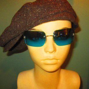 Chanel Sunglasses Blue Lens Square Shape 4017